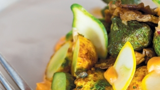 Roasted Pattypan Squash & Oyster Mushrooms